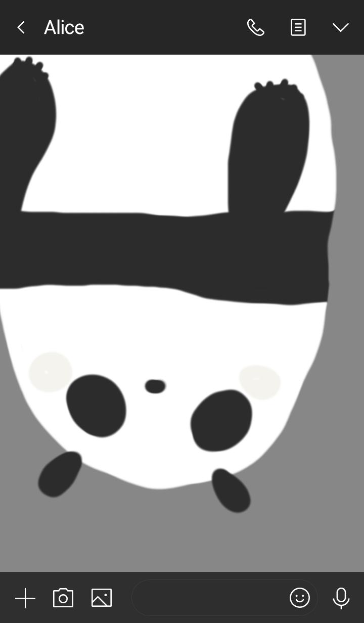 さかさまパンダ