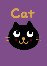 Black cat and purple from j...