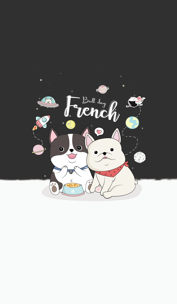French Bulldog On Space.