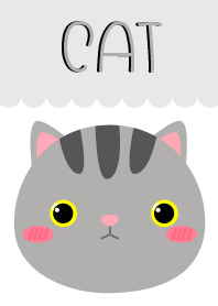 Simple Lovely Gray Cat Theme