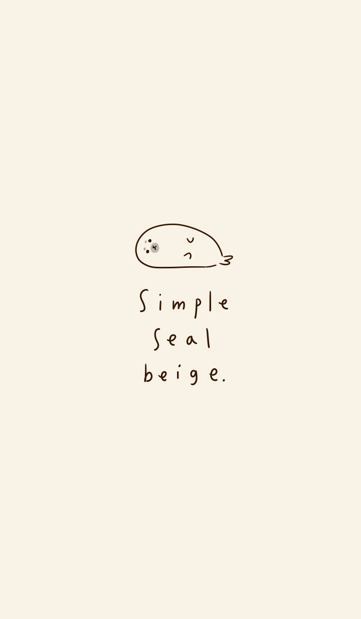 Simple seal beige.