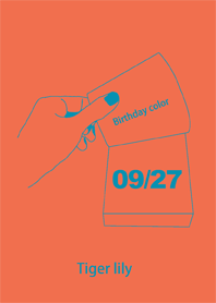Birthday color September 27 simple