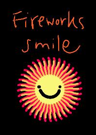Fireworks smile dark sky