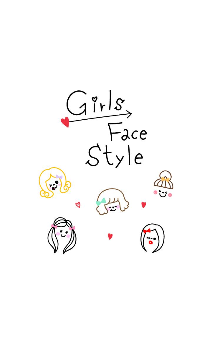 Girls Face Style heart