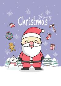 Merry Christmas - Santa theme (Purple)