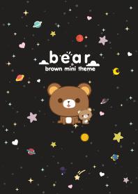 Brown Bear Minimal Galaxy Black
