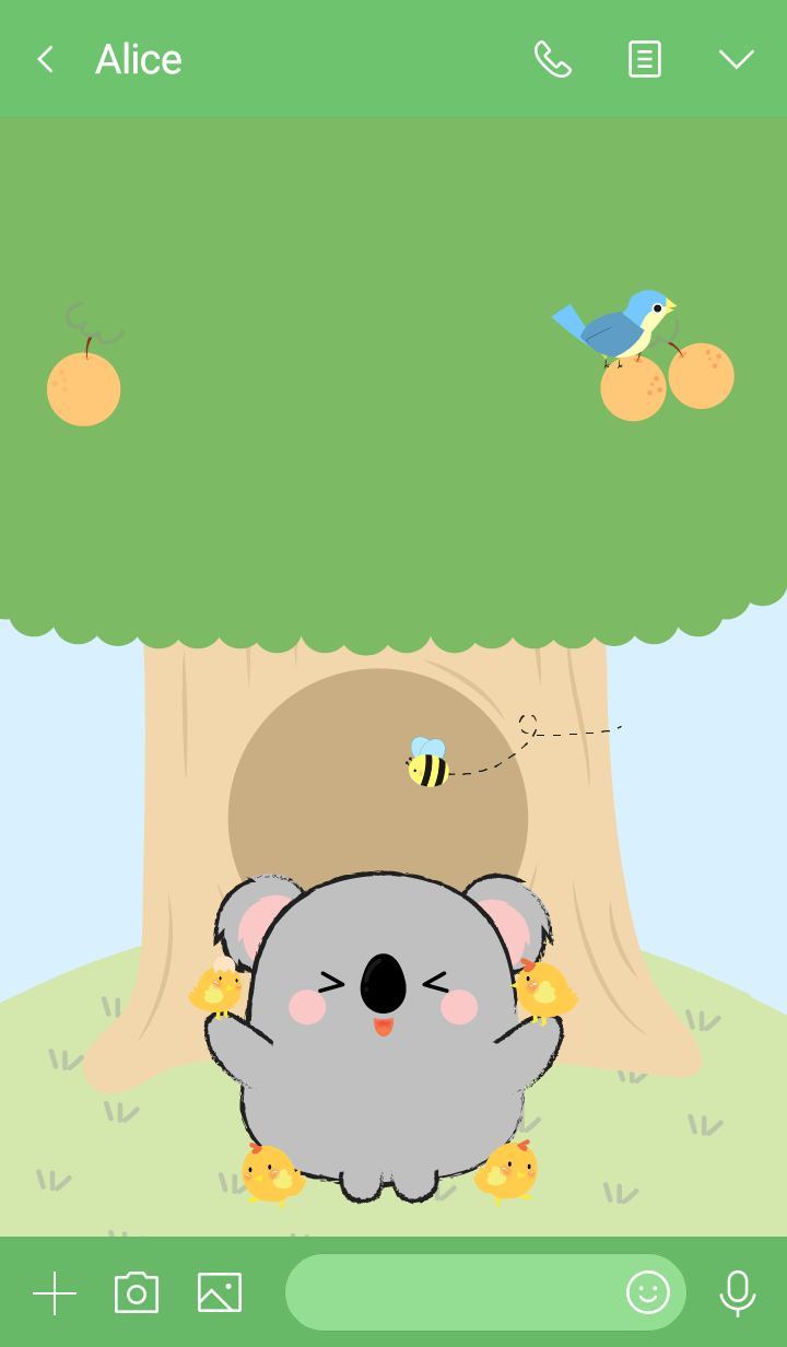 Koala With Tree Theme