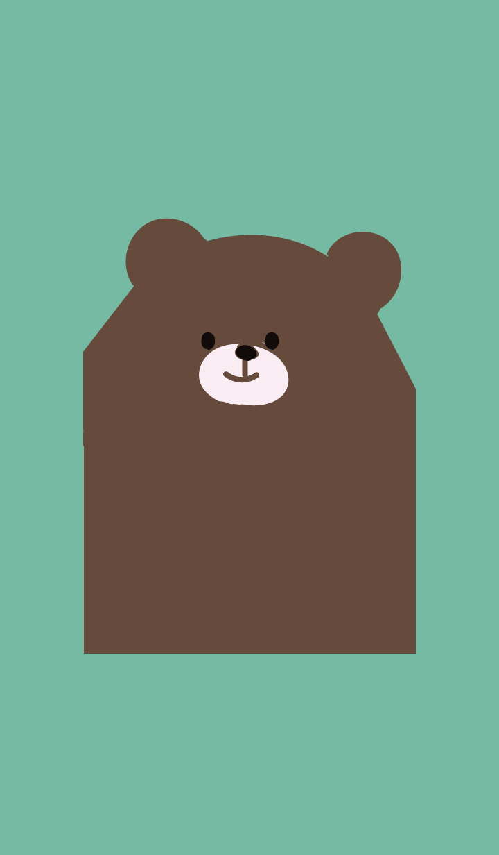 Big bear chocolate mint green g