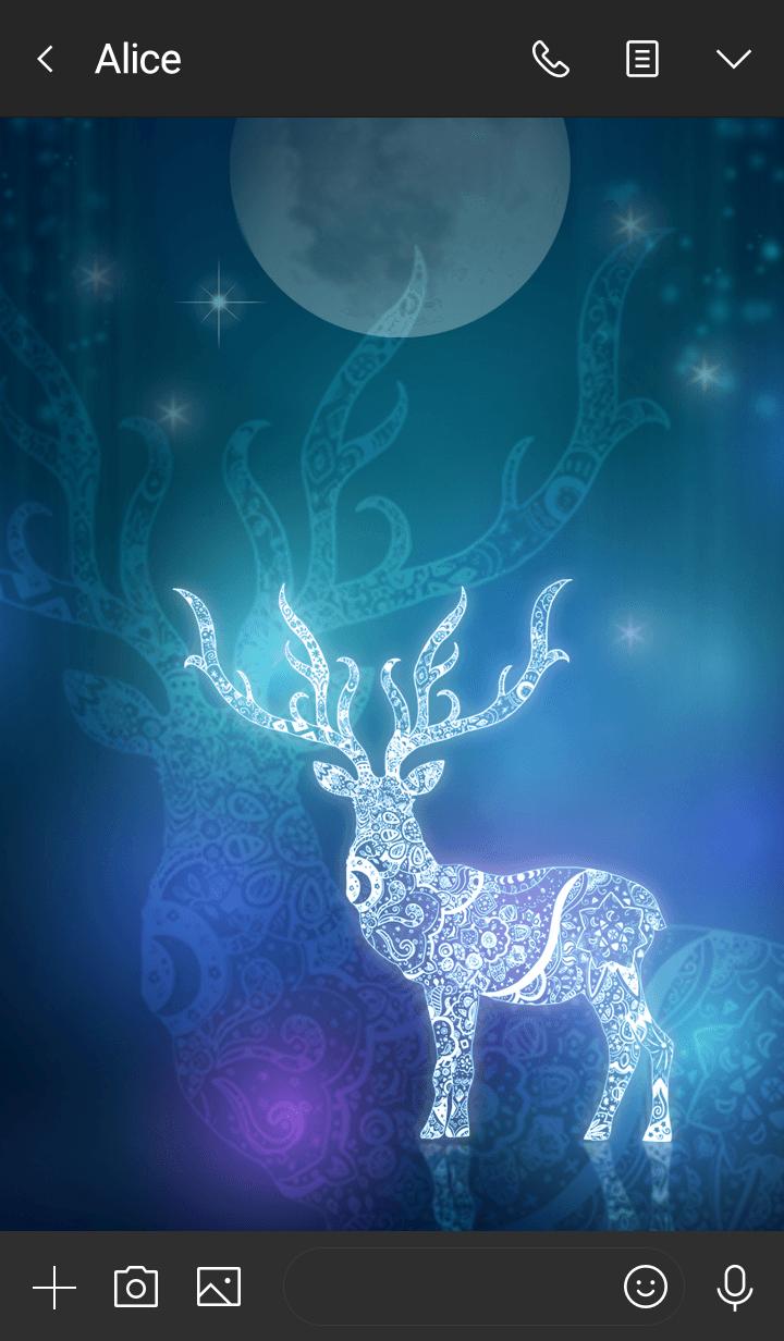 白色鹿☆吉祥动物,带来好运
