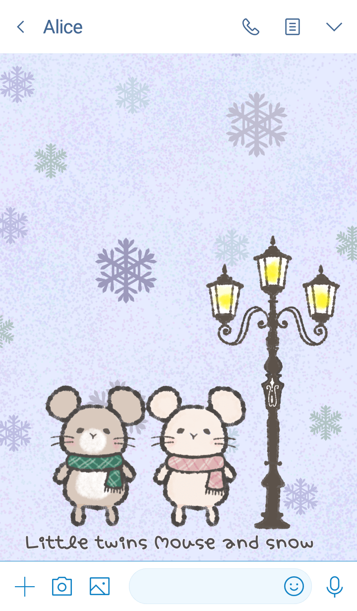 Little twins mouse and snow #2020