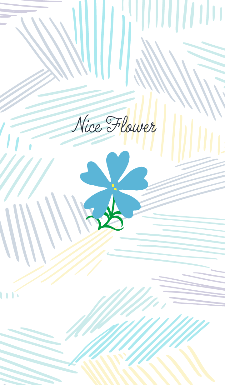 Nice Flower / Skyblue