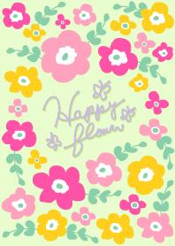 Happy flower-Green x Pink-joc