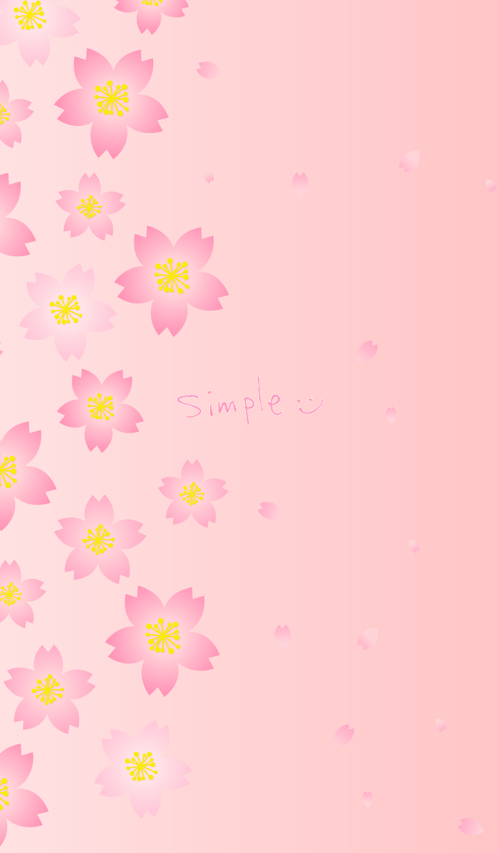 Simple cherry blossoms pink gradation14