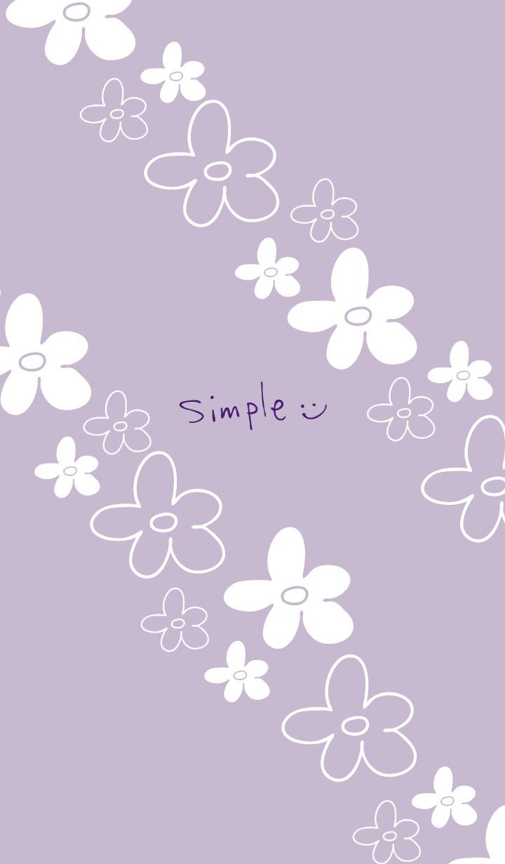 Handwritten flower Darkish Purple3 Japan