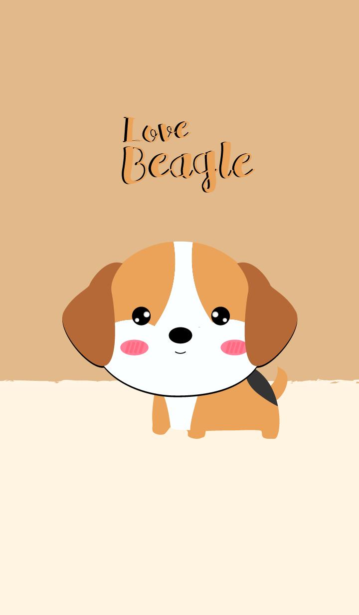 I Love Beagle Dog Theme (jp)