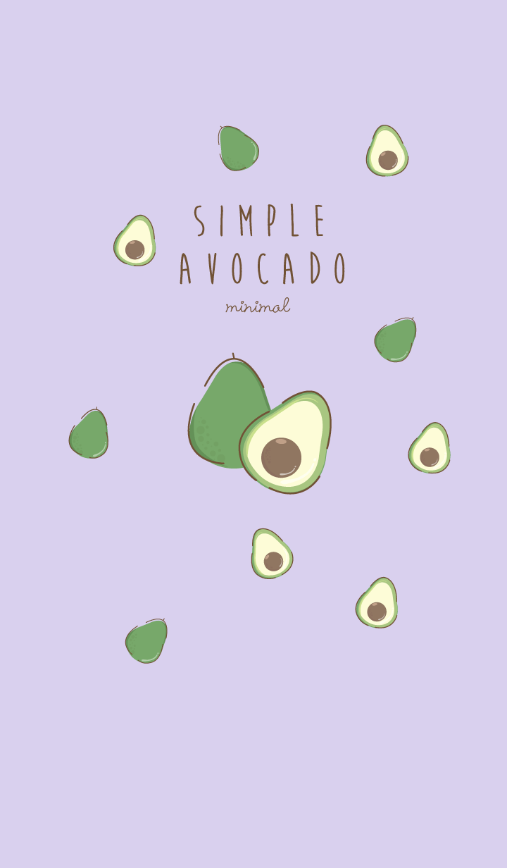 avocado minimal purple (Simple ver.)