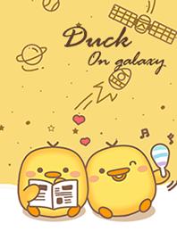 Duck on galaxy yellow.