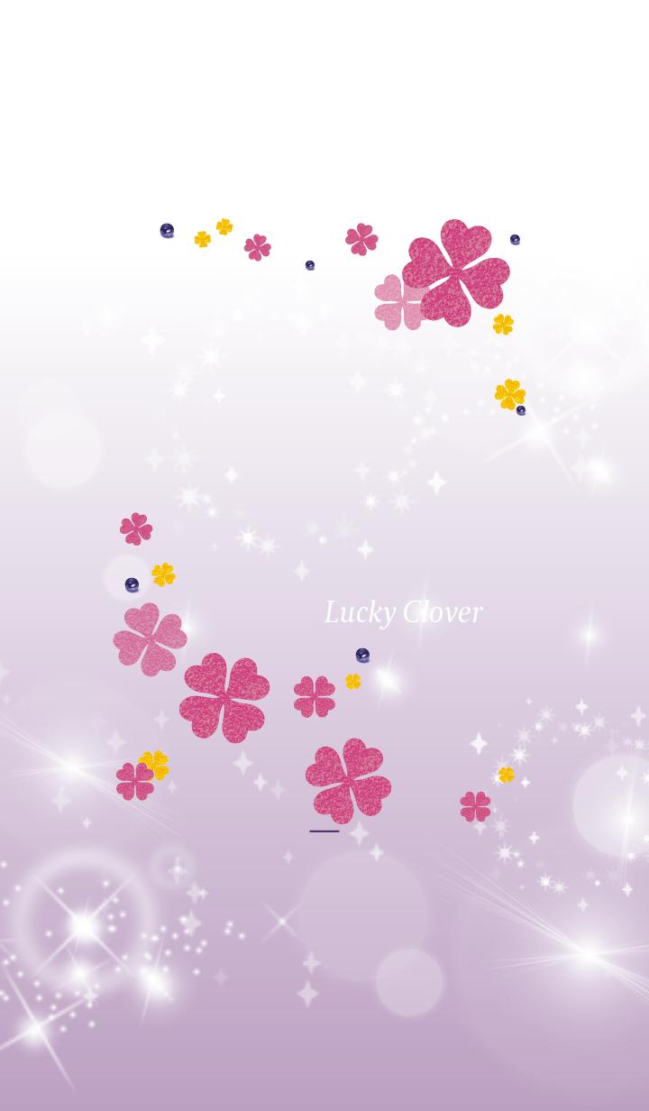 Purple : Lucky pink clover
