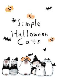 simple Halloween Cats.