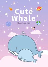 浩瀚宇宙 寶貝鯨魚 浪漫漸層 紫