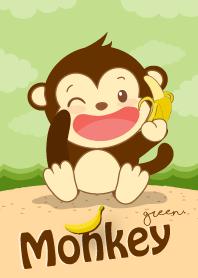 ลิงน้อยจอมซน สีเขียว