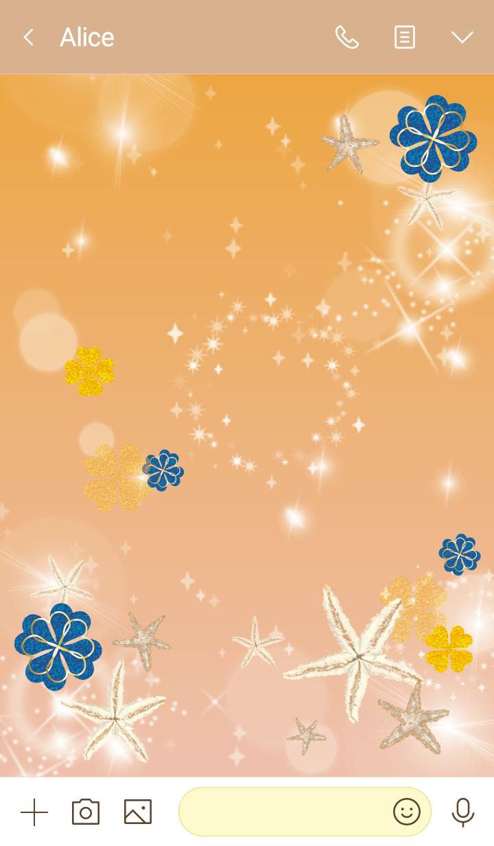 Orange : Sea lucky starfish