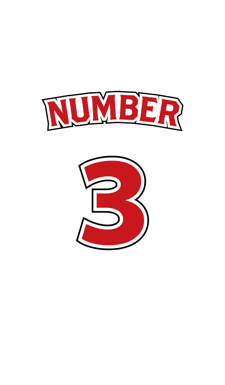 Number 3 White x Red version