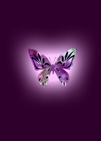 Lucky crystal pink butterfly