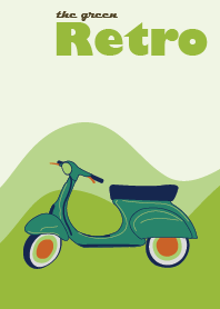 The Green Retro Scooter Vintage