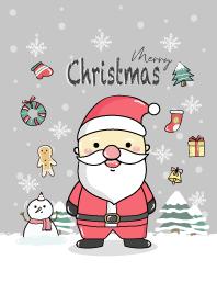 Merry Christmas -Santa theme. (Gray)
