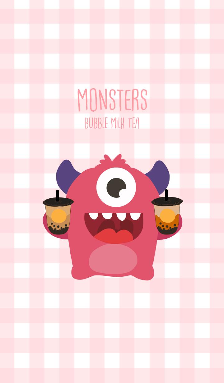 Monsters bubble milk tea