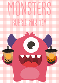 Monsters bubble milk tea