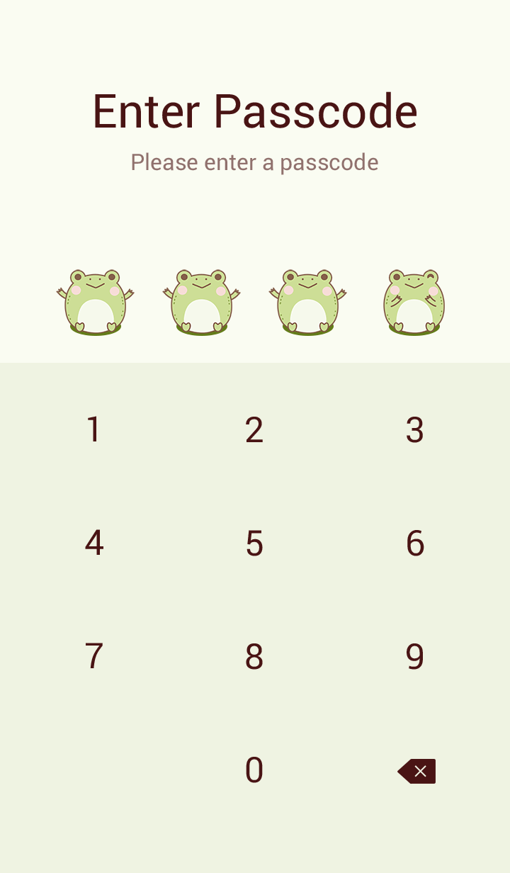 Frog in green