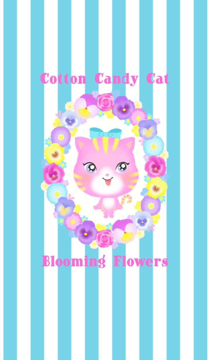 Cotton Candy Cat & Flower Theme