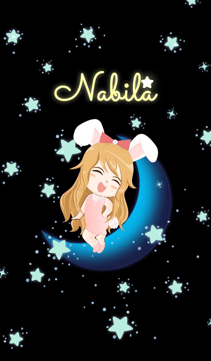 Nabila - Bunny girl on Blue Moon