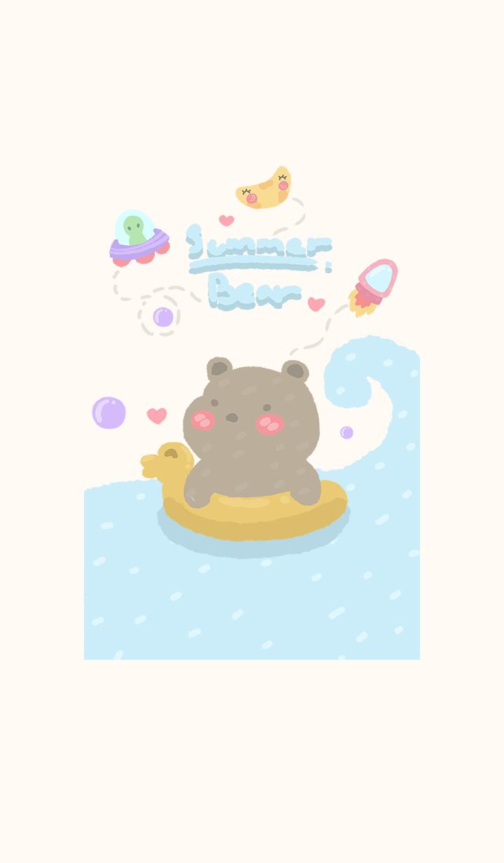 Happy summer bear & space