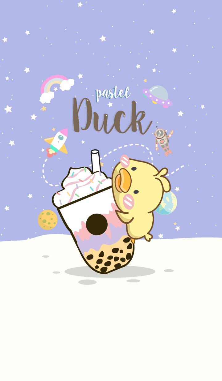 Pastel Duck. (Bubble milk tea)