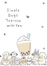 simple Dogs Tapioca milk tea