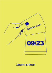 Birthday color September 23 simple