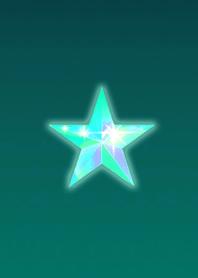 Lucky simple light blue star