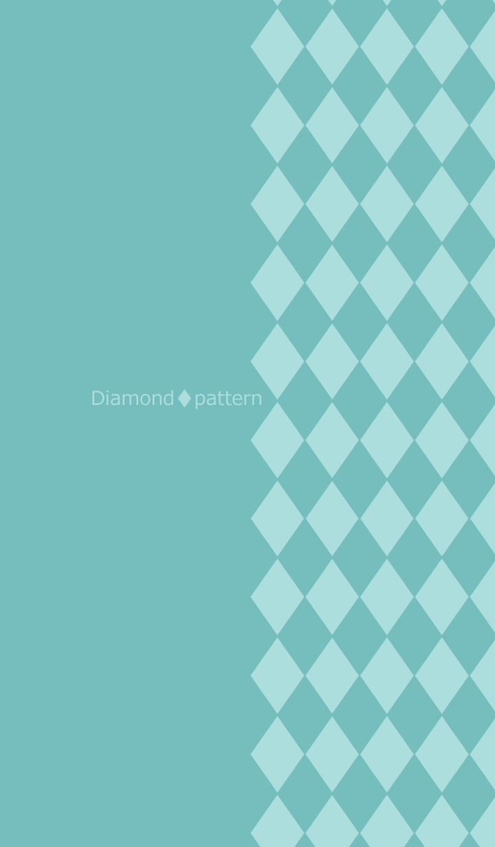 Chic diamond pattern -Blue green-