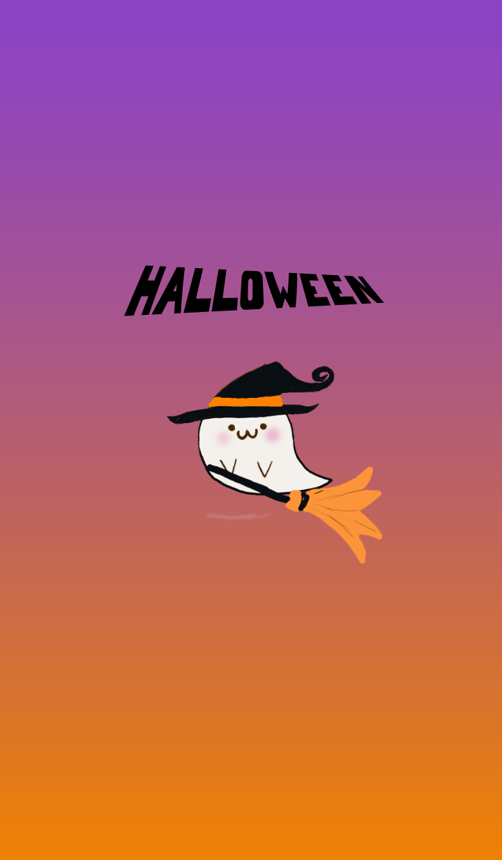 Cute ghost Halloween embrujado lindo