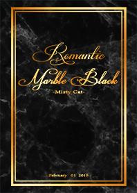 大理石紋理-浪漫黑色、金光閃閃