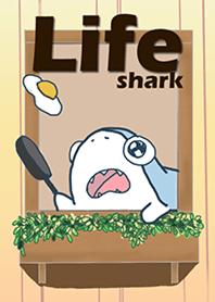Life of big eyes shark Yellow Beige