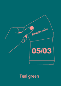 Birthday color May 3 simple: