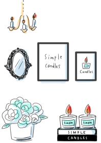 簡單 蠟燭