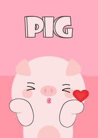 Love Love Cute Pig Theme