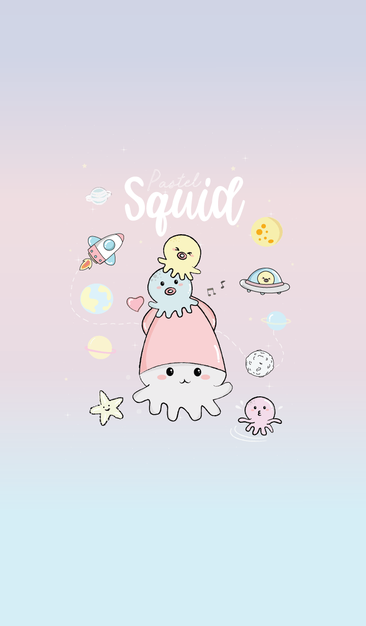 Squid On Space Pastel.