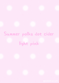 Summer polka dot cider light pink