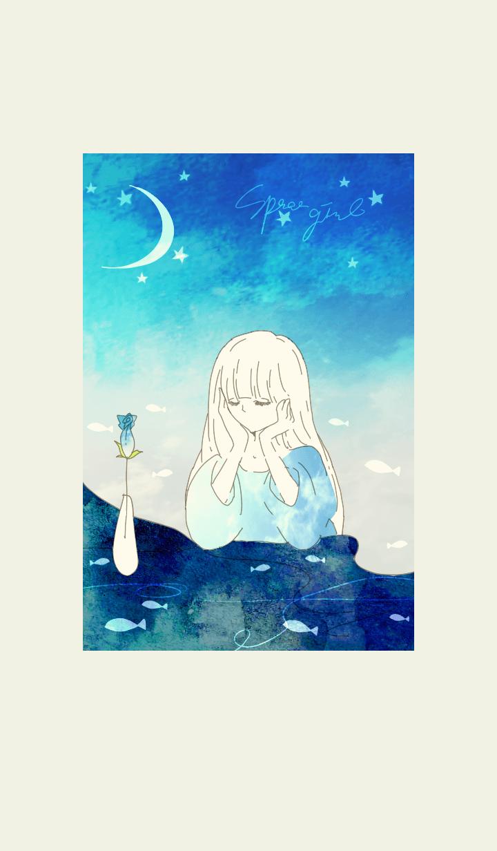 魚と花と宇宙と・月夜